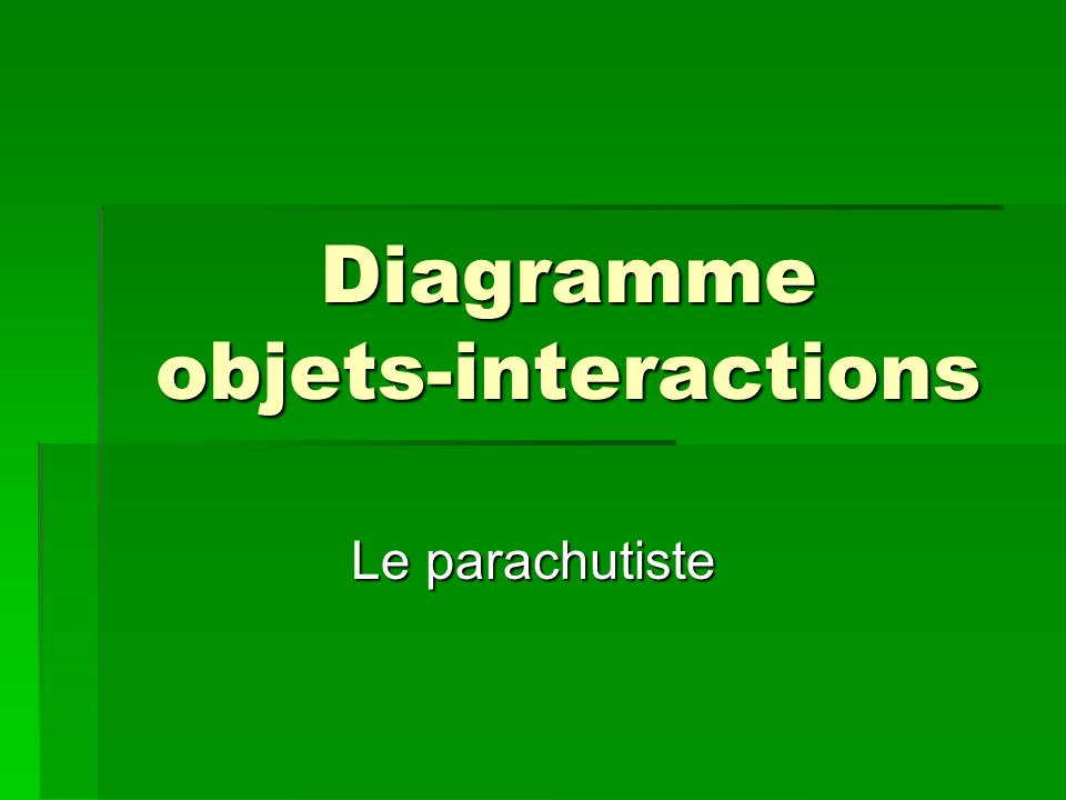 Diagramme objets-interactions
