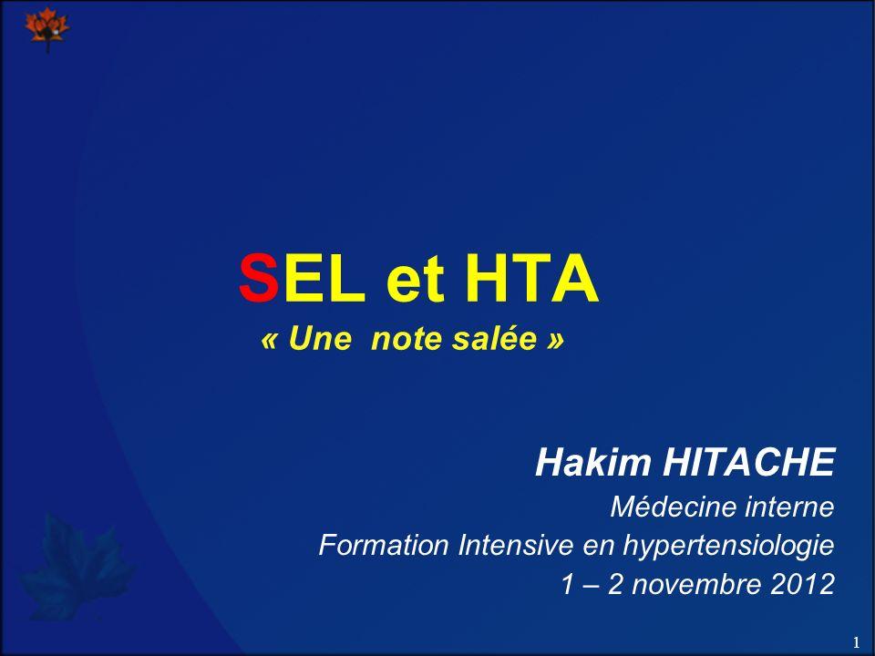 SEL et HTA « Une note salée »