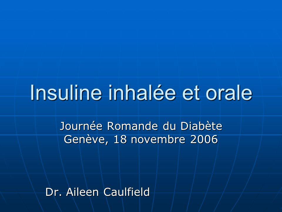 Insuline inhalée et orale