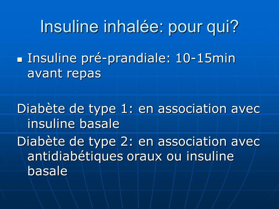 Insuline inhalée: pour qui