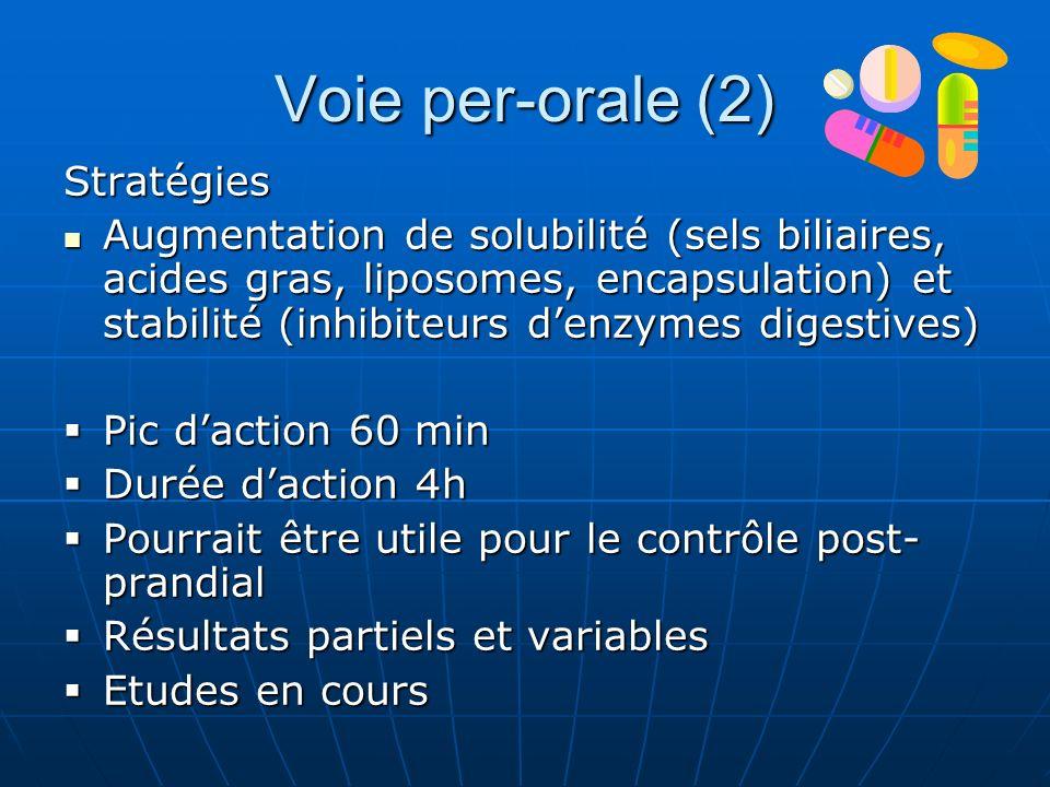 Voie per-orale (2) Stratégies