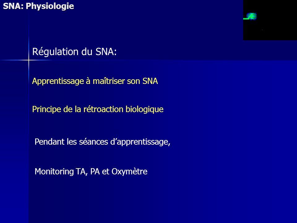 Régulation du SNA: SNA: Physiologie Apprentissage à maîtriser son SNA