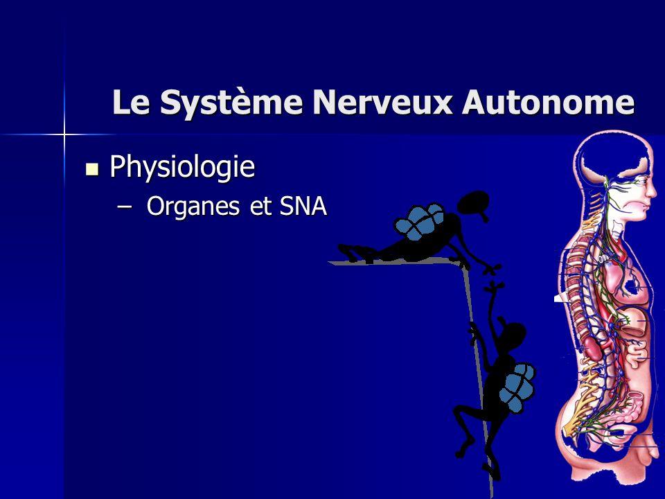 Le Système Nerveux Autonome