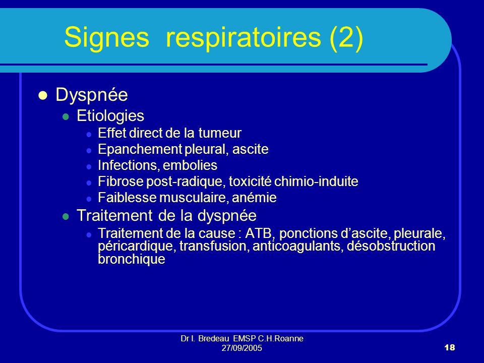 Signes respiratoires (2)