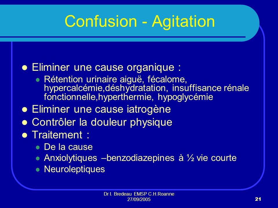 Dr I. Bredeau EMSP C.H.Roanne 27/09/2005