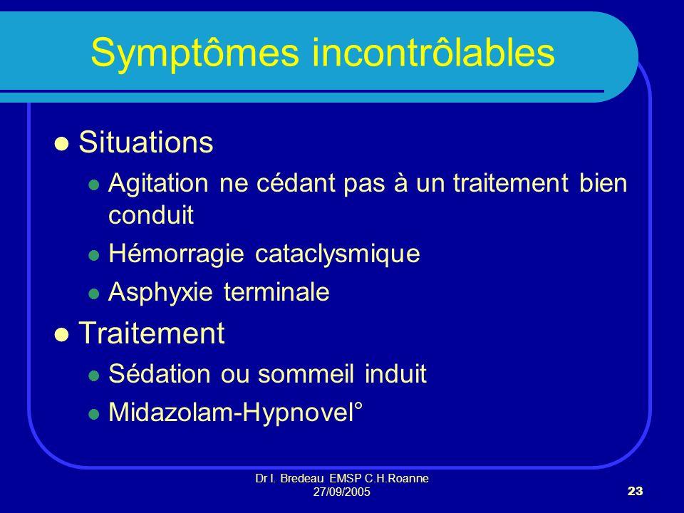 Symptômes incontrôlables