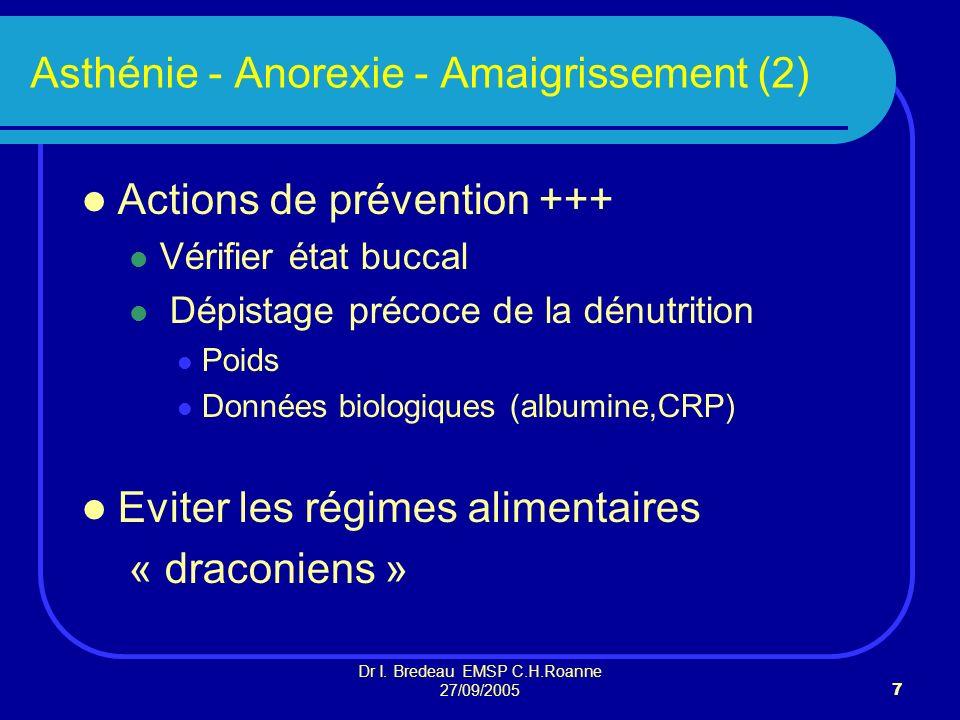 Asthénie - Anorexie - Amaigrissement (2)