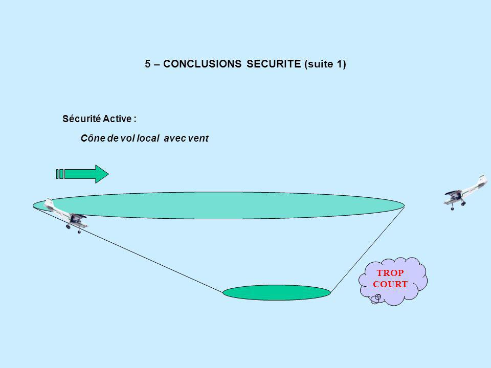 5 – CONCLUSIONS SECURITE (suite 1)