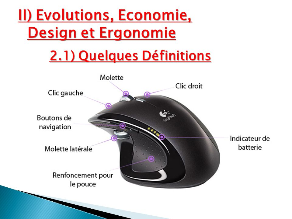 II) Evolutions, Economie, Design et Ergonomie