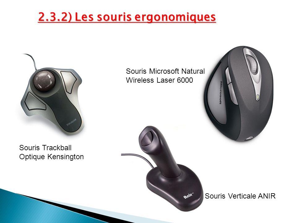 2.3.2) Les souris ergonomiques