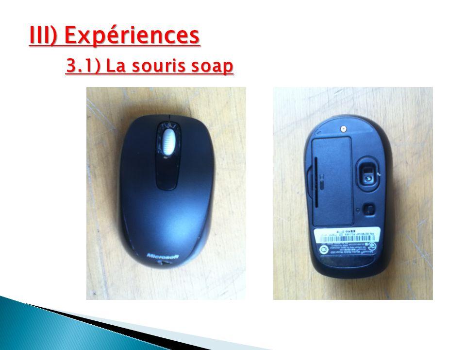 III) Expériences 3.1) La souris soap