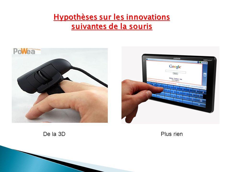 Hypothèses sur les innovations suivantes de la souris