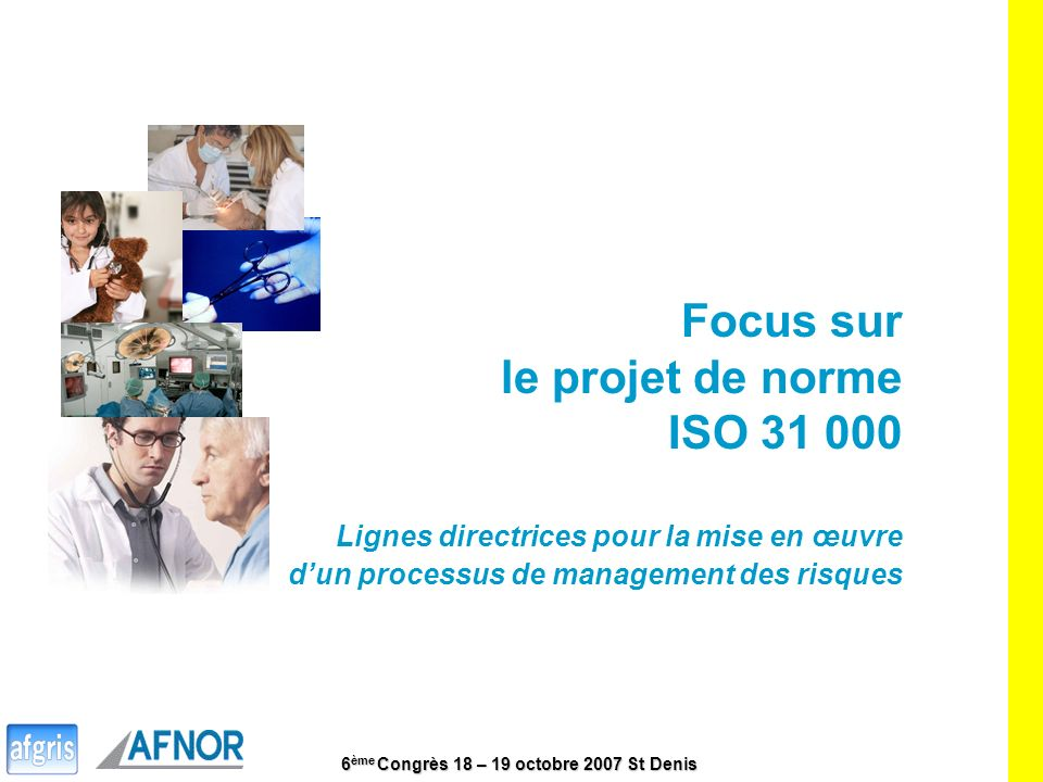 Focus sur le projet de norme ISO 31 000