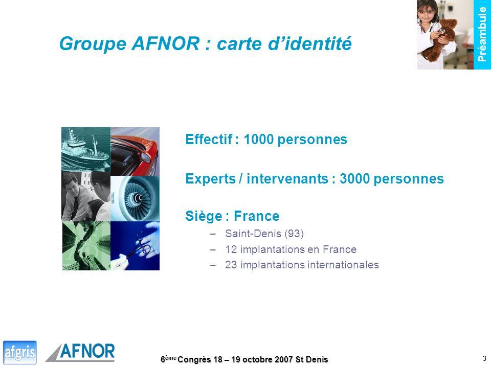 Groupe AFNOR : carte d'identité