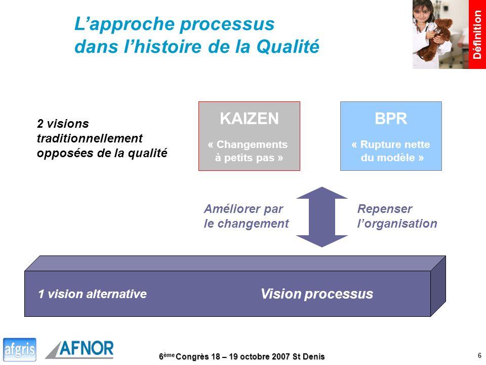 L'approche processus dans l'histoire de la Qualité