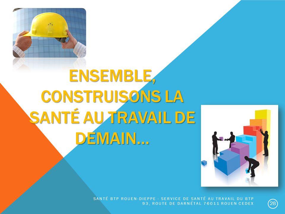 ENSEMBLE, construisons la santé au travail de demain…