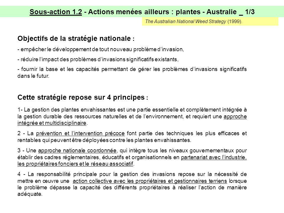 Sous-action 1.2 - Actions menées ailleurs : plantes - Australie _ 1/3