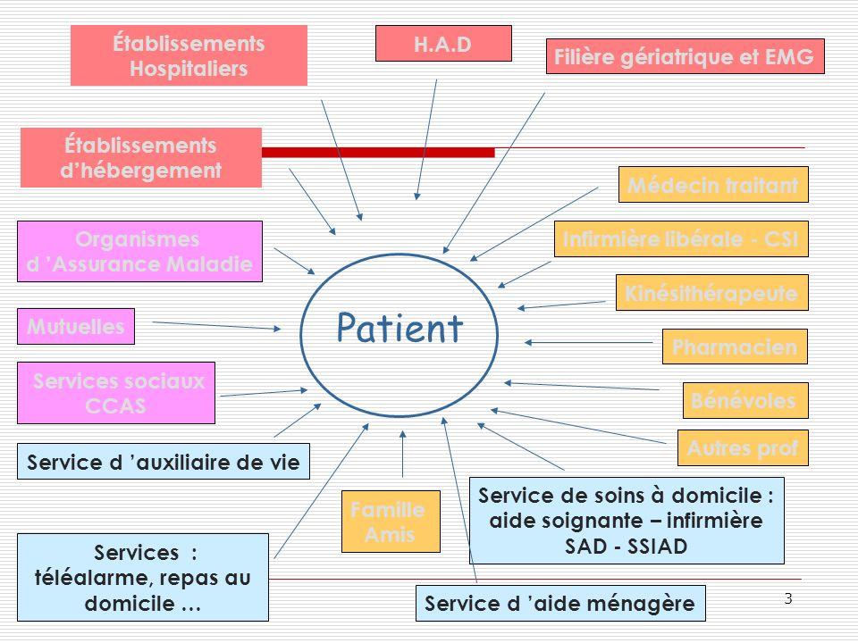 Patient Établissements Hospitaliers H.A.D Filière gériatrique et EMG