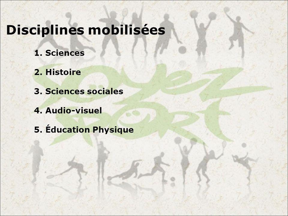 Disciplines mobilisées