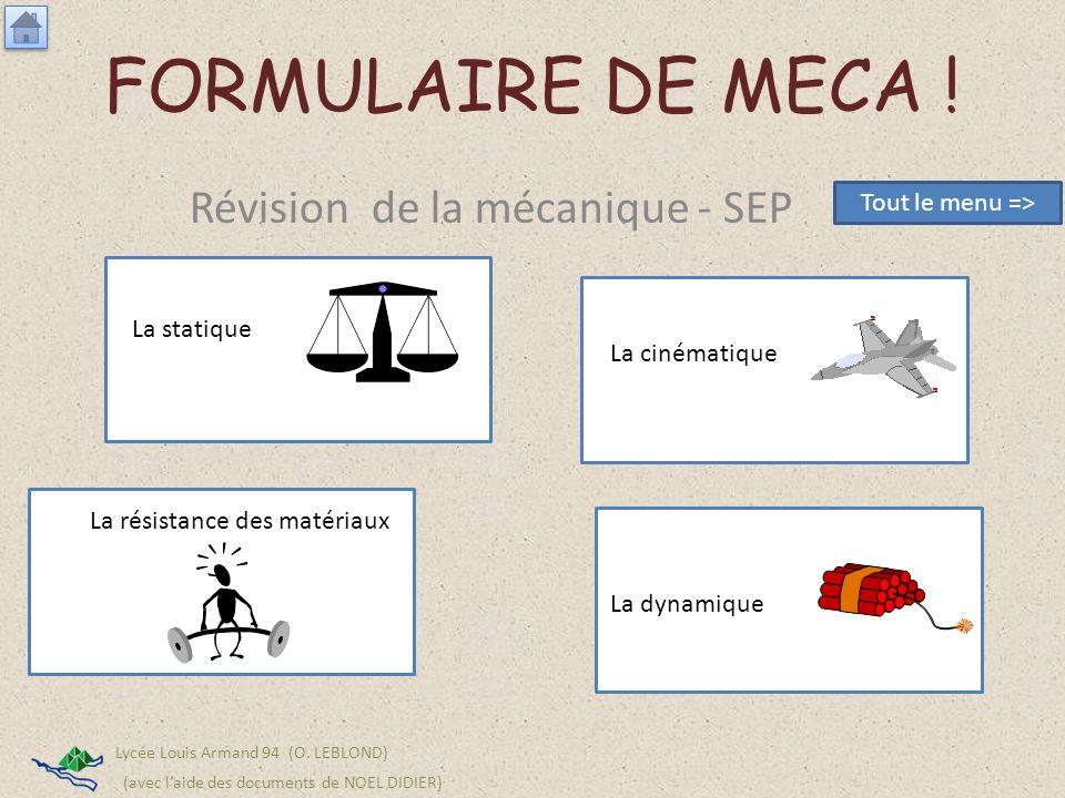 Révision de la mécanique - SEP