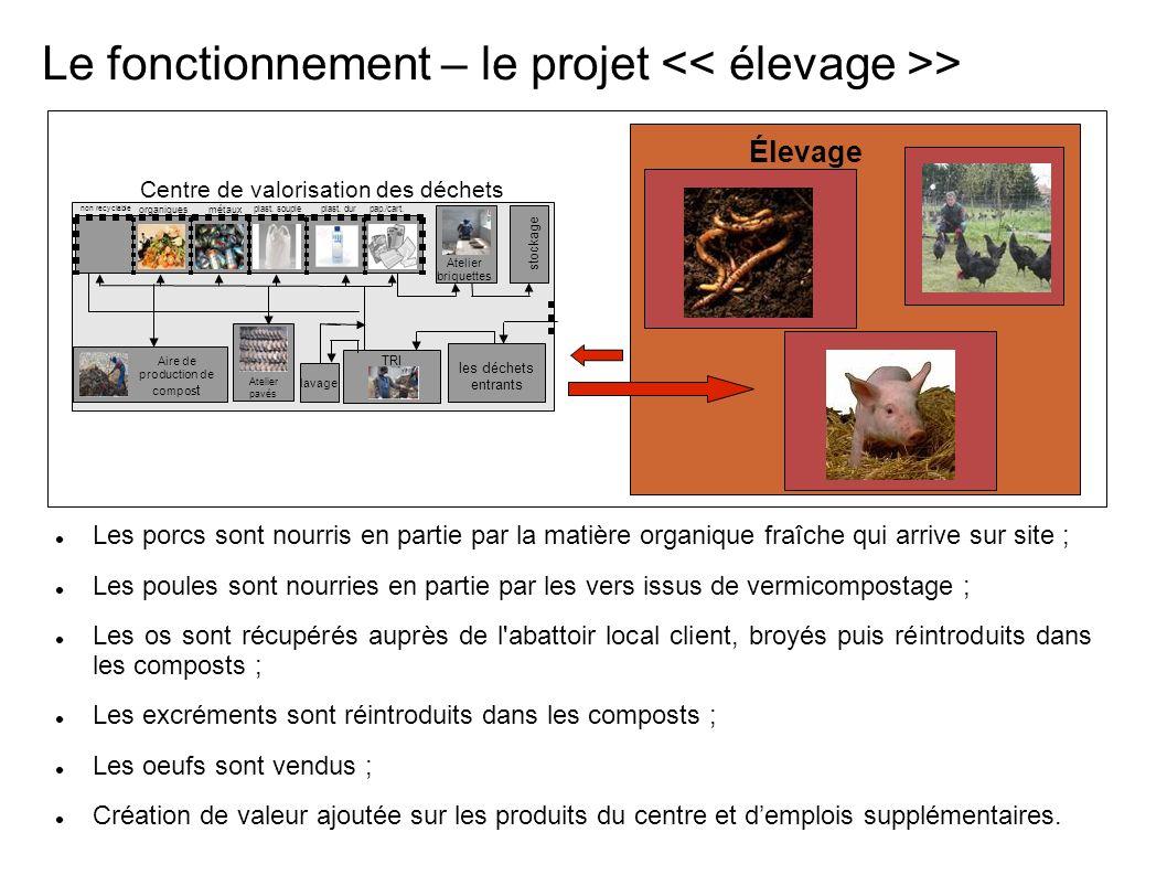 Le fonctionnement – le projet << élevage >>