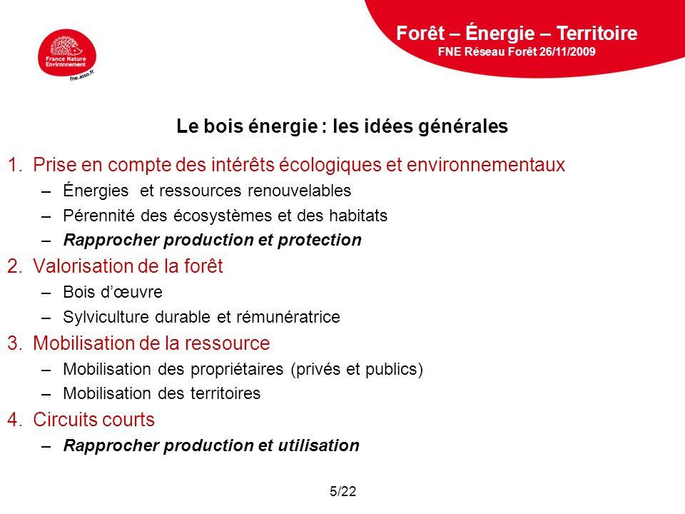 Le bois énergie : les idées générales