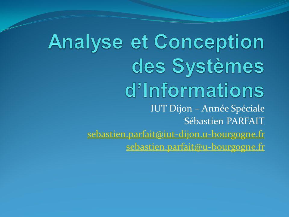 Analyse et Conception des Systèmes d'Informations