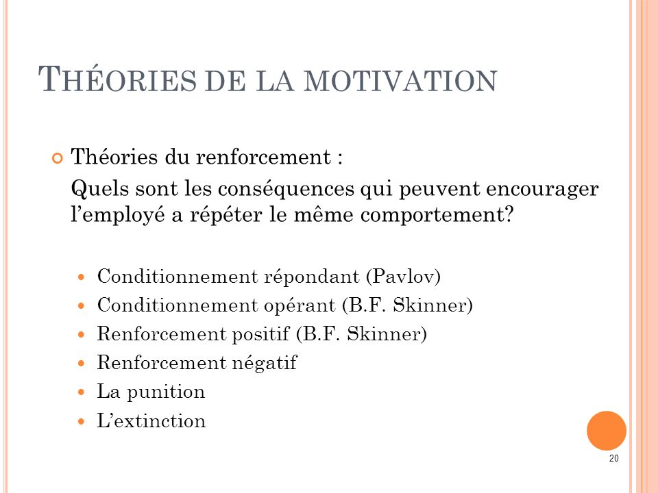 Théories de la motivation