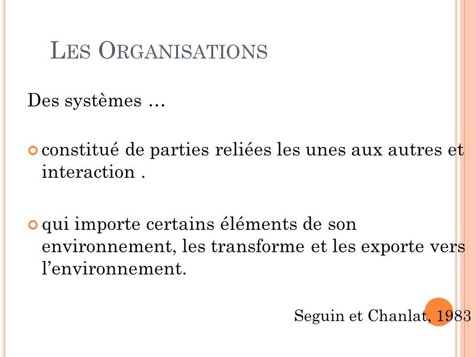 Les Organisations Des systèmes …