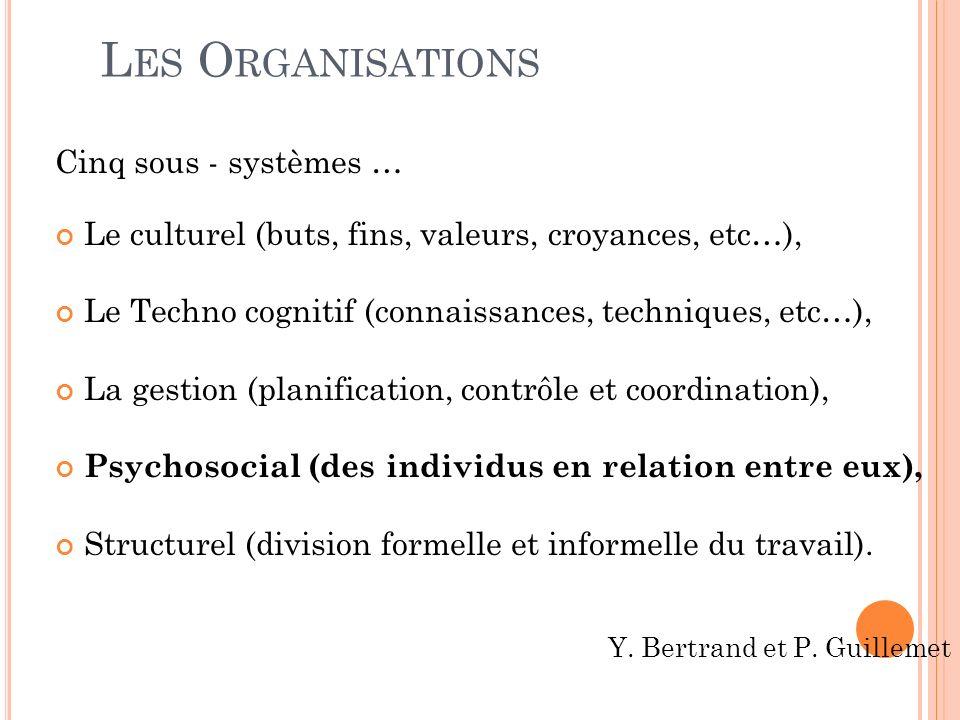 Les Organisations Cinq sous - systèmes …