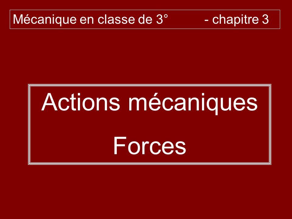 Mécanique en classe de 3° - chapitre 3