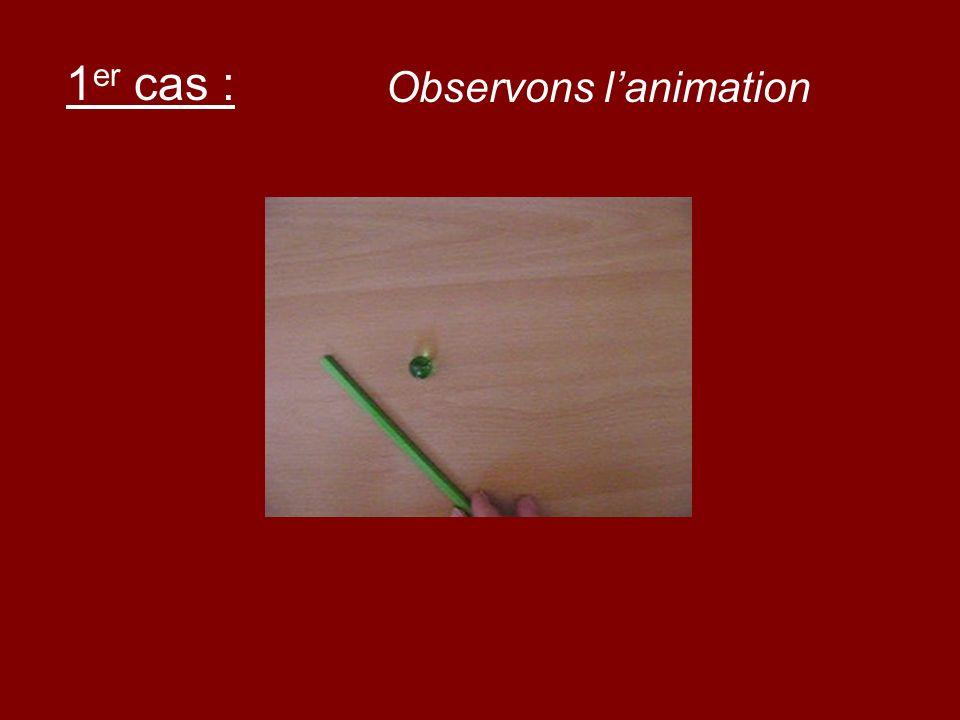 1er cas : Observons l'animation