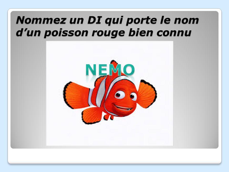 Nommez un DI qui porte le nom d'un poisson rouge bien connu