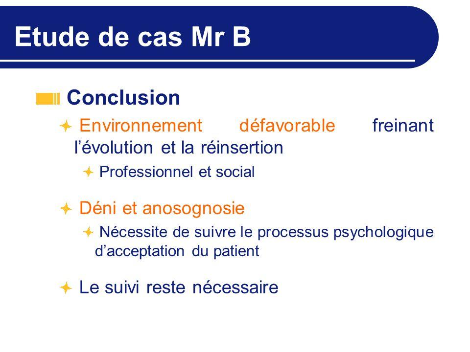 Etude de cas Mr B Conclusion