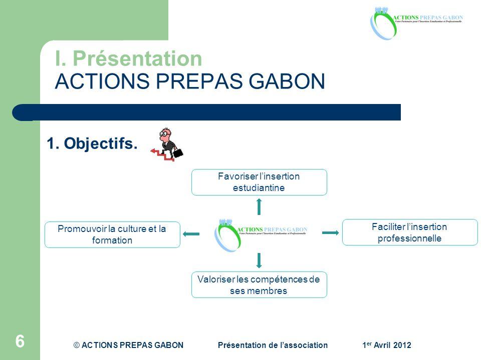 I. Présentation ACTIONS PREPAS GABON