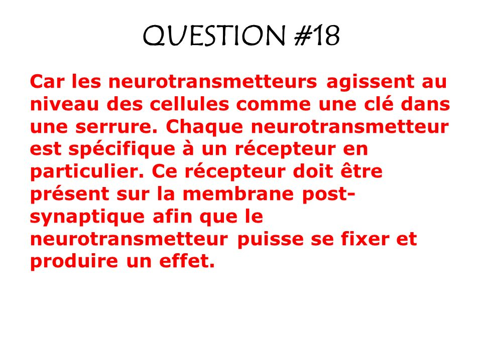QUESTION #18