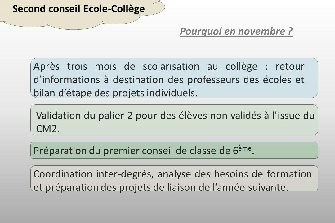 Second conseil Ecole-Collège