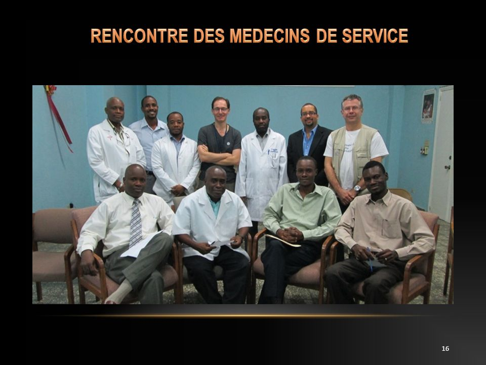 RENCONTRE DES MEDECINS DE SERVICE