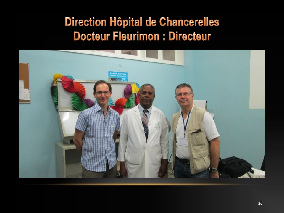 Direction Hôpital de Chancerelles Docteur Fleurimon : Directeur
