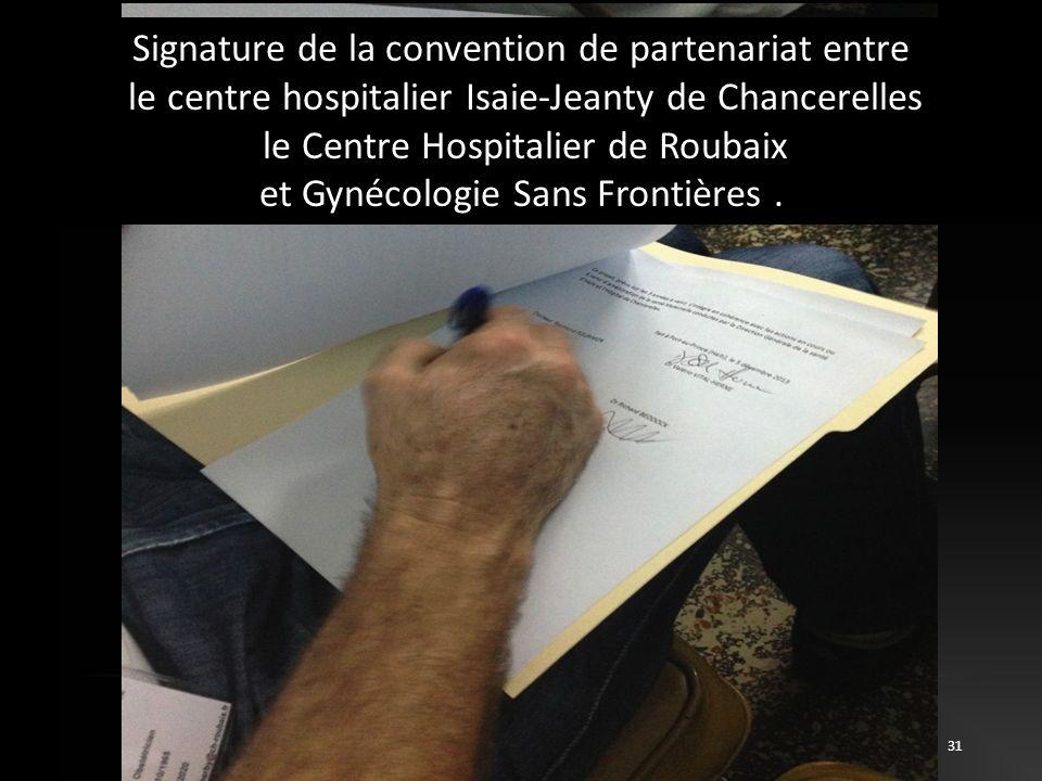 Signature de la convention de partenariat entre