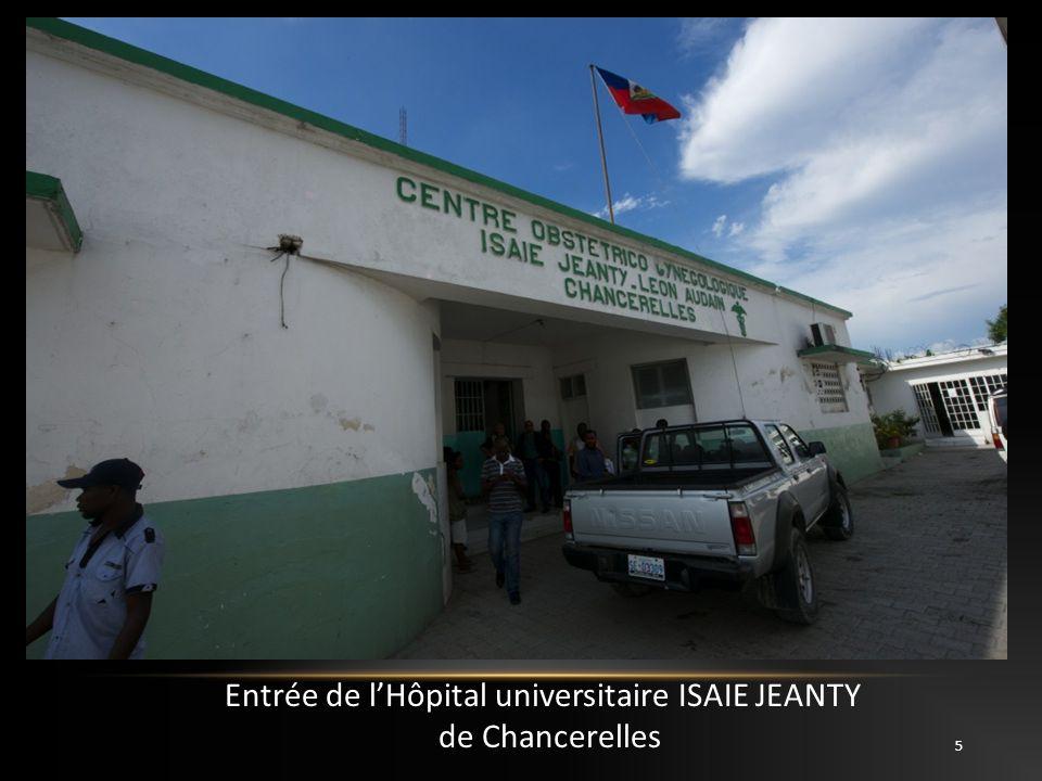 Entrée de l'Hôpital universitaire ISAIE JEANTY