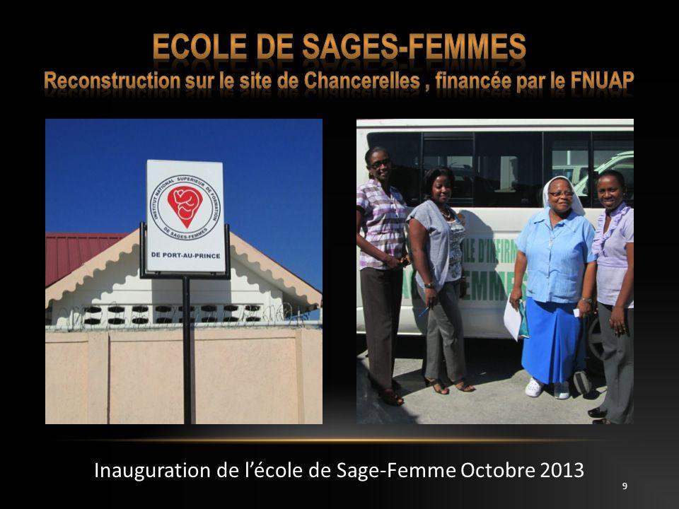 Inauguration de l'école de Sage-Femme Octobre 2013