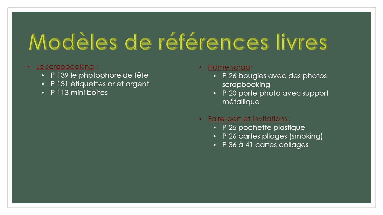 Modèles de références livres