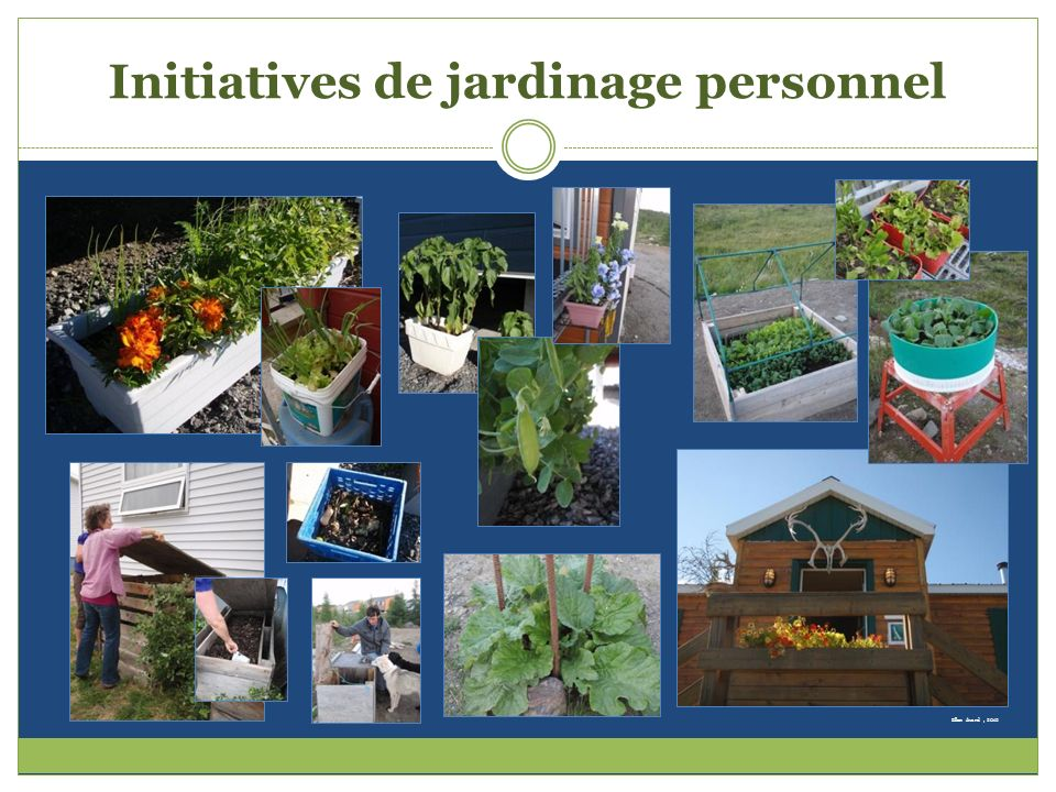 Initiatives de jardinage personnel