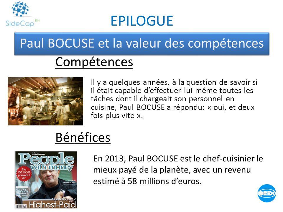Paul BOCUSE et la valeur des compétences