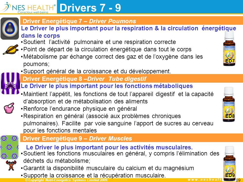 Le Driver le plus important pour les activités musculaires.