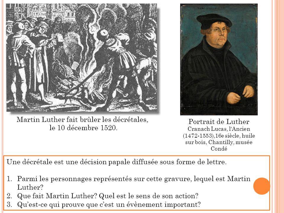 Martin Luther fait brûler les décrétales,