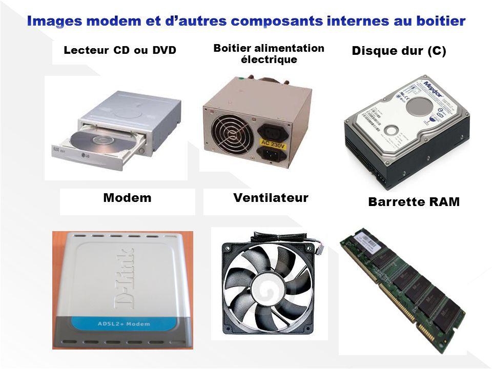 Images modem et d'autres composants internes au boitier