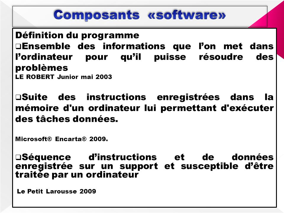 Composants «software»