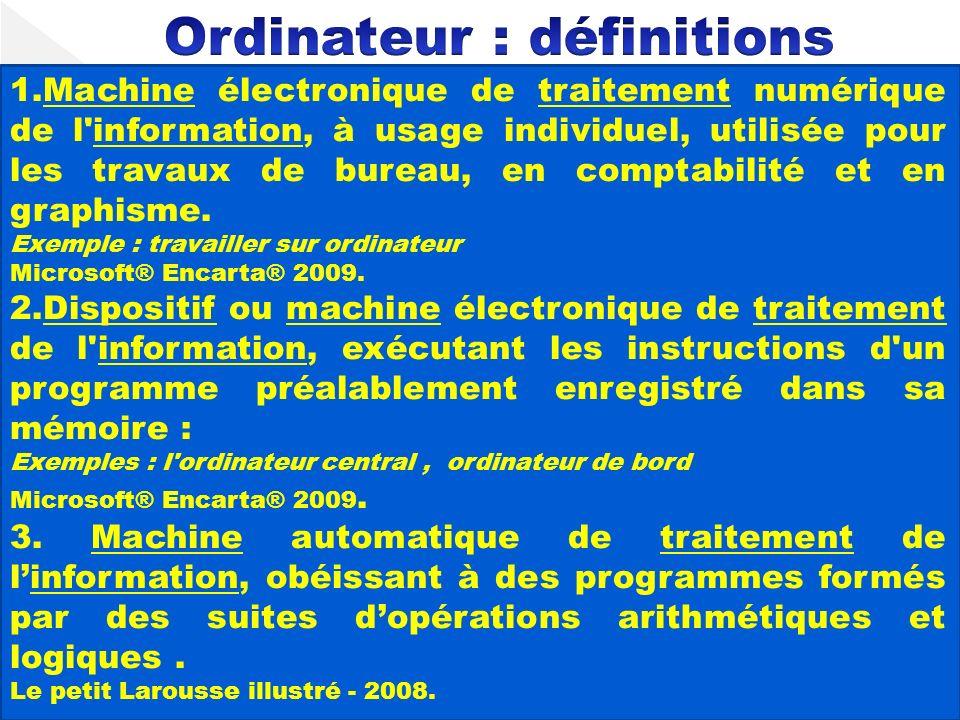 Ordinateur : définitions
